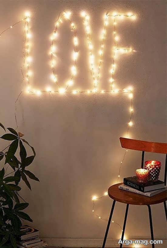 ایده هایی بینظیر از تزینات اتاق با استفاده از ریسه ی نور