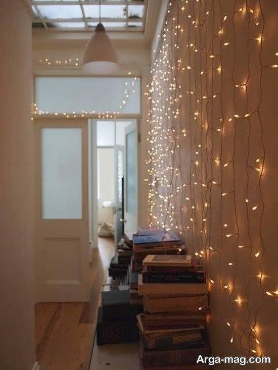 ایده هایی بینظیر از زیباسازی اتاق با ریسه ی نور