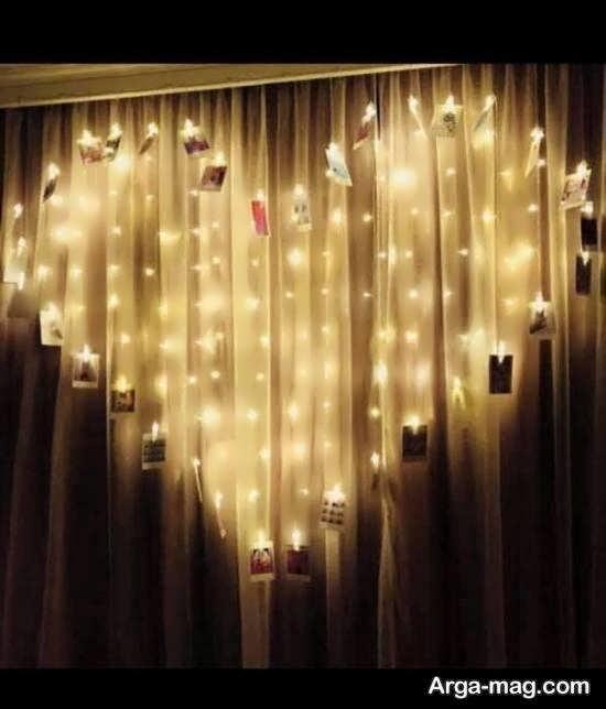 ایده هایی زیبا و شیک از تزیین اتاق با ریسه ی نور