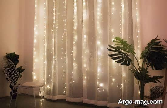 ایده هایی ناب و جدید از تزیینات اتاق با ریسه ی نور