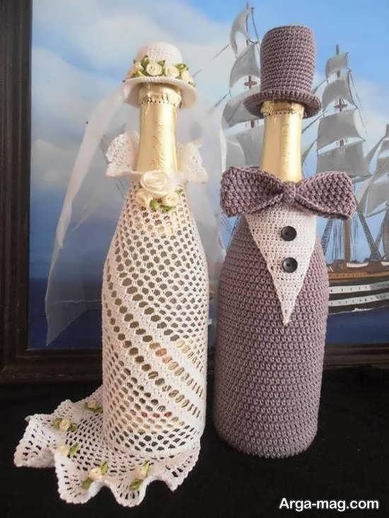 گالری شیکی از ایده های تزیین بطری عروس