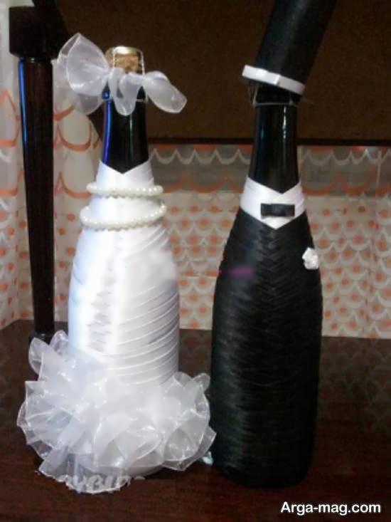 ایده های زیبایی از تزیین بطری عروس
