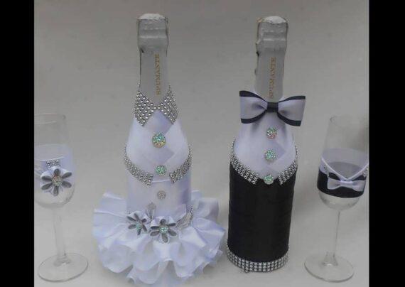 ایده های زیبا و جالبی از تزیین بطری عروس برای جهیزیه