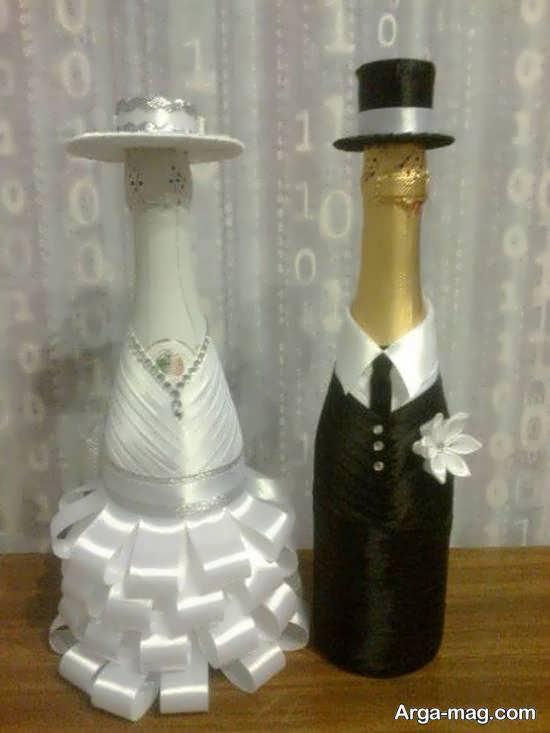 گالری شیکی از تزیین بطری عروس برای تمامی سلیقه ها