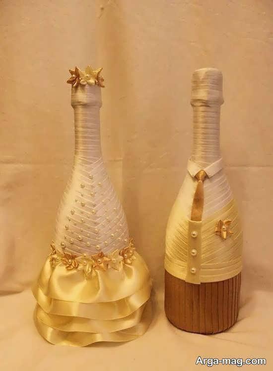 ایده هایی ایده آل و جذاب برای زیباسازی بطری عروس