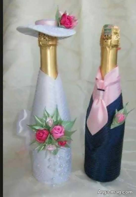 ایده هایی زیبا و شیک برای زیباسازی بطری عروس