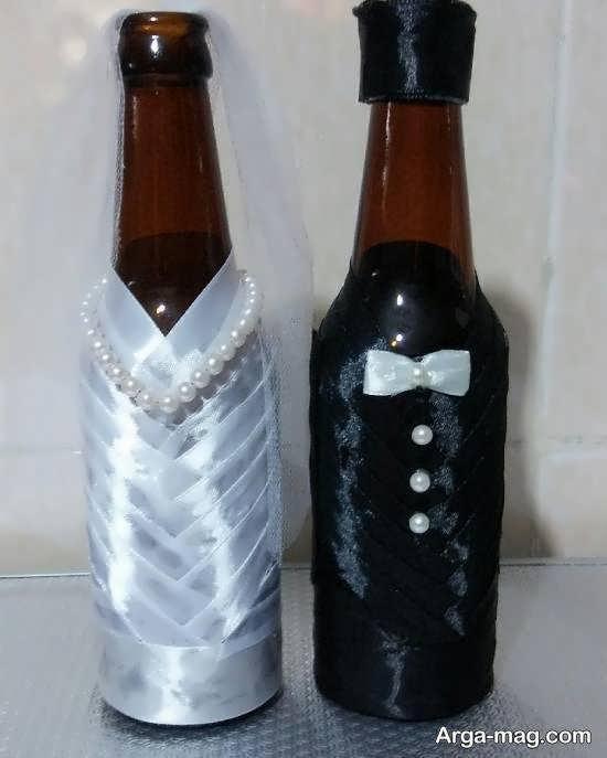 ایده هایی ایده آل و جذاب از تزیین بطری عروس