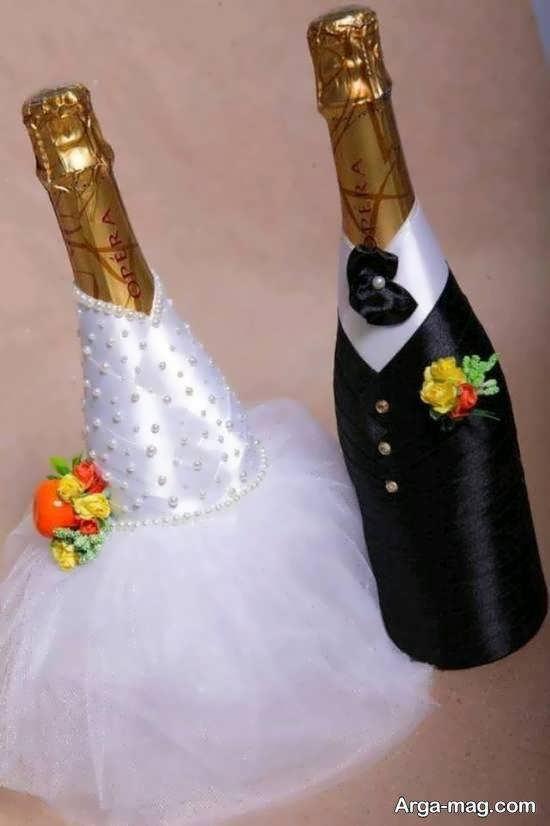مجموعه ای لاکچری و دوست داشتنی از دیزاین بطری عروس