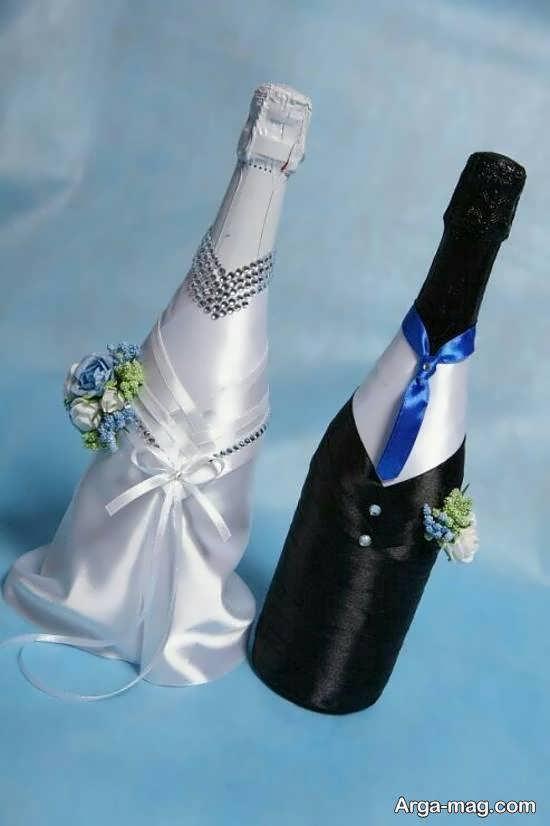گالری شیکی از ایده های زیباسازی بطری عروس
