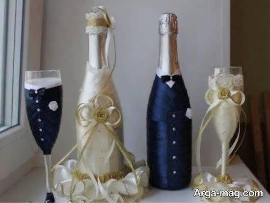 مجموعه ای دوست داشتنی از طراحی و دیزاین بطری عروس