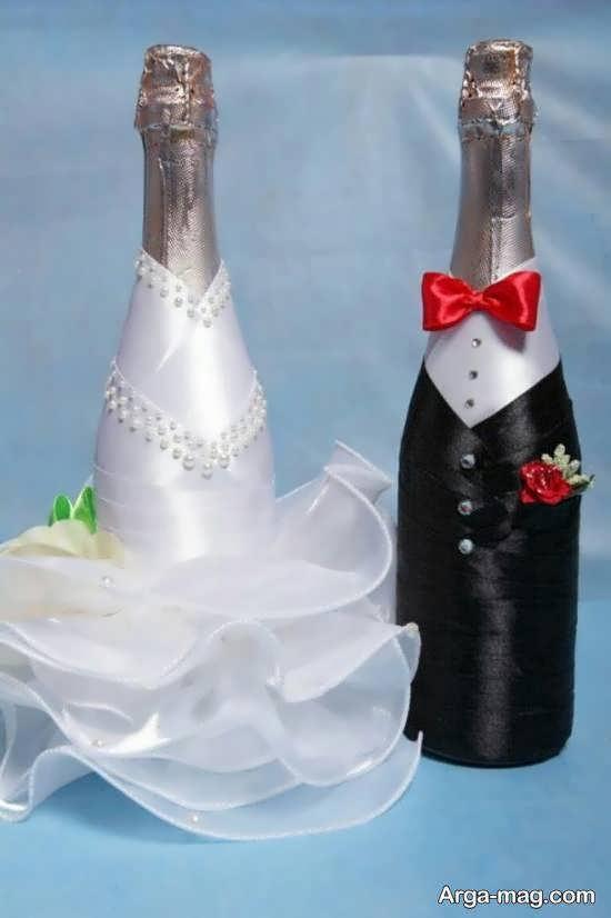 مجموعه ای فوق العاده و دوست داشتنی برای طراحی و دیزاین بطری عروس