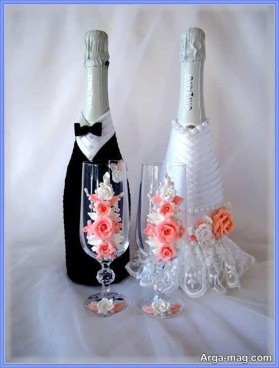 ایده هایی خاص و بینظیر از تزیین بطری عروس