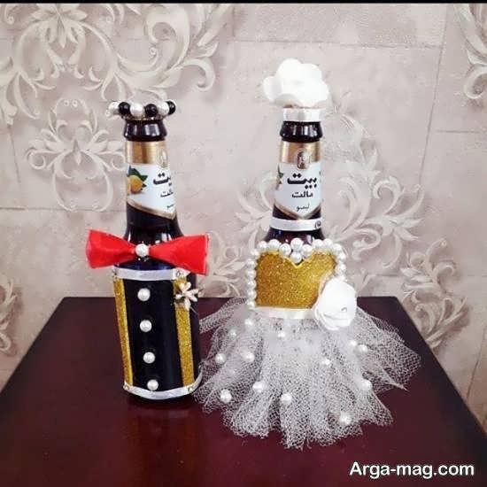 ایده هایی بینظیر و جذاب برای زیباسازی بطری عروس برای تمامی سلیقه ها