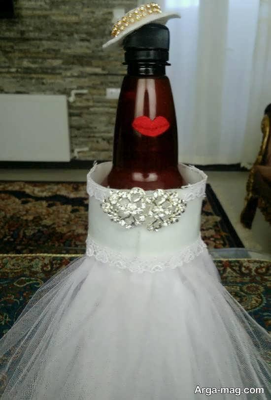 مجموعه ای ایده آل و منحصر به فرد از تزیین بطری عروس