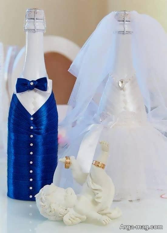 ایده هایی زیبا و متنوع از زیباسازی بطری عروس