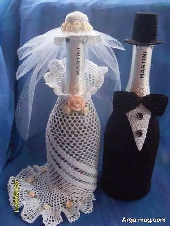 ایده هایی منحصر به فرد و متفاوت از تزیینات بطری عروس با سلیقه ای جالب