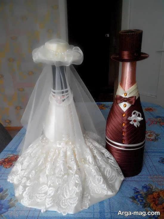ایده هایی ایده آل و متفاوت از زیباسازی بطری عروس جهیزیه