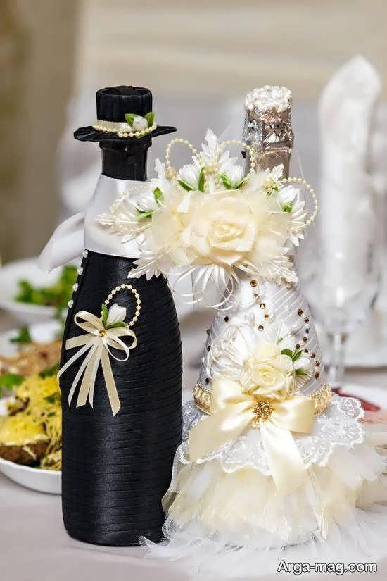 ایده هایی ایده آل و منحصر به فرد از تزیین بطری عروس برای خوش سلیقه ها