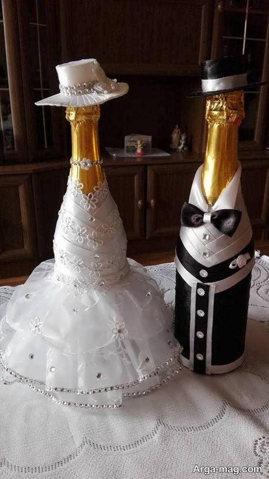ایده هایی ایده آل از زیباسازی بطری عروس