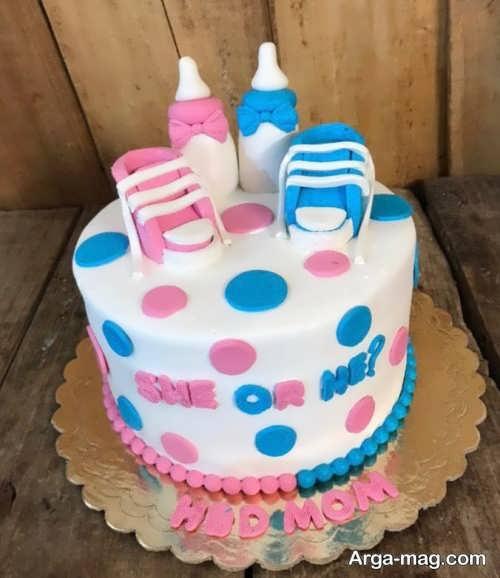 تزیین کیک برای جشن تعیین جنسیت
