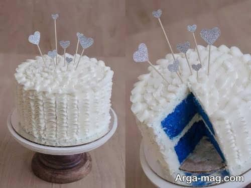 تزیین کیک با خامه برای جشن تعیین جنسیت