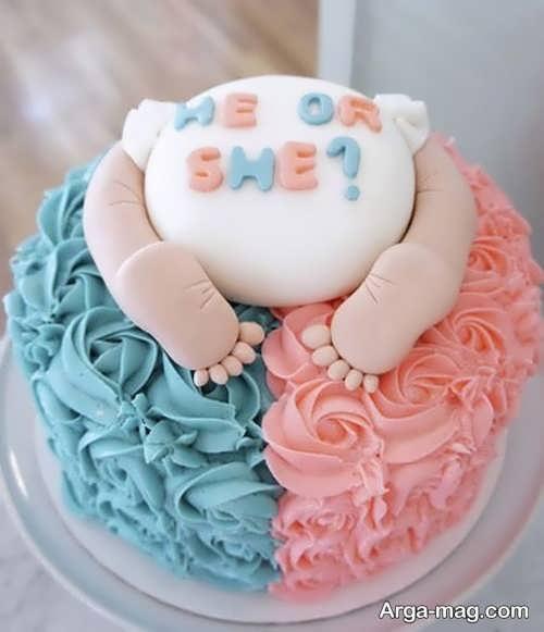 تزیینات کیک تعیین جنسیت