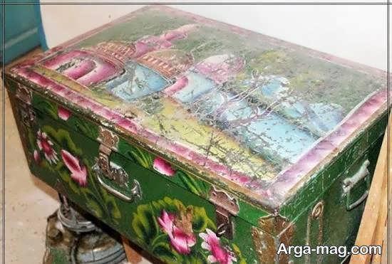 تزیینات و نقاشی صندوقچه قدیمی مادربزرگ برای دکوراسیون منزل