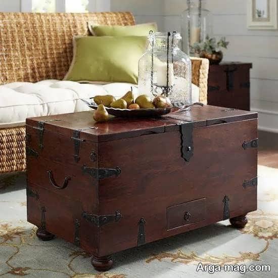 ایده هایی نو و جذاب از تزیین صندوقچه ی کهنه و با قدمت به عنوان میز