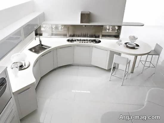 نمونه هایی ایده آل و زیبا از چیدمان آشپزخانه ارگونومیک