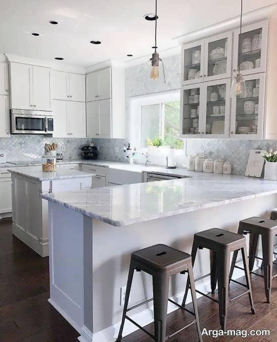 ایده هایی ایده آۀ و زیبا از دیزاین آشپزخانه ارگونومیک
