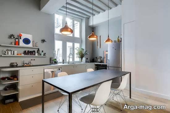نمونه هایی شیک از طراحی و زیباسازی آَپزخانه به سبک ارگونومی