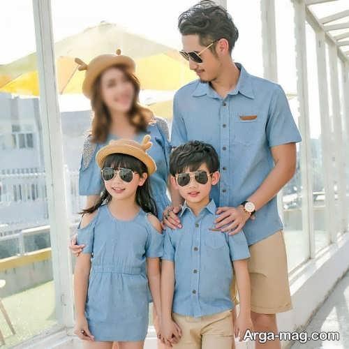 طرح ست لباس خانوادگی