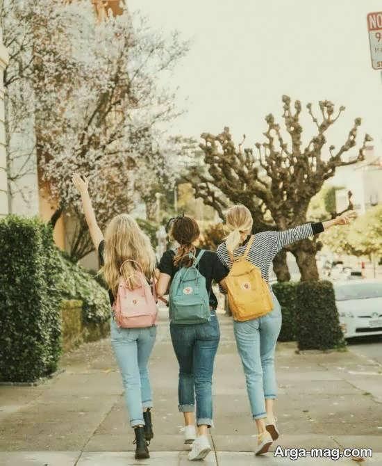 مجموعه ای زیبا از ژست عکس دسته جمعی دوستانه دخترانه