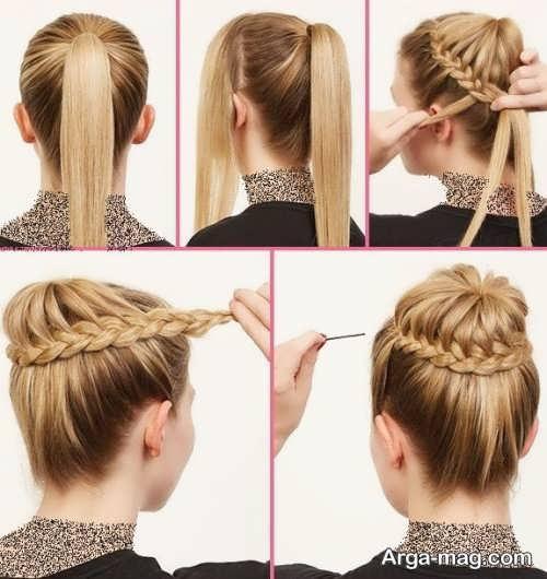 مدل مو فرانسوی همراه با بافت