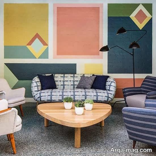 مجموعه ای دلخواه از اشکال هندسی در دیزاین خانه