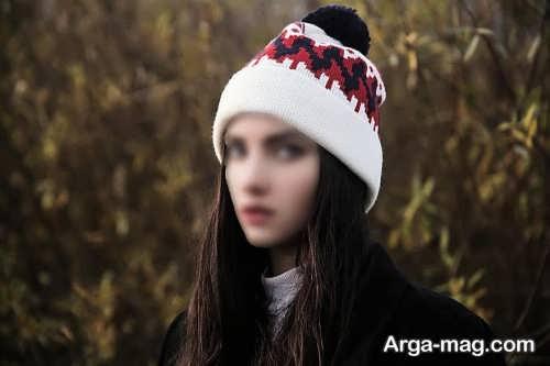مدل کلاه رنگ روشن دخترانه