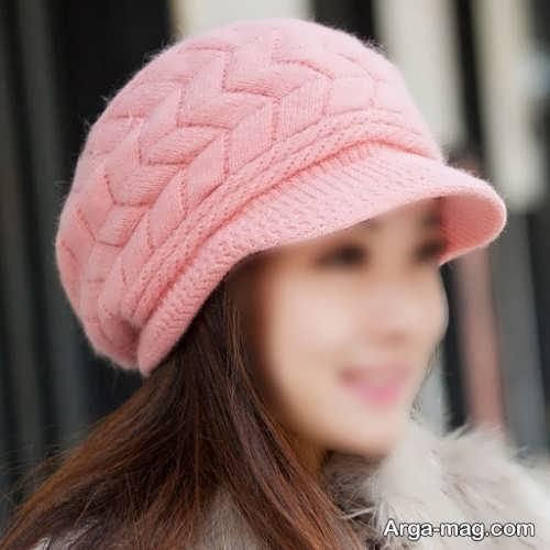 کلاه صورتی دخترانه