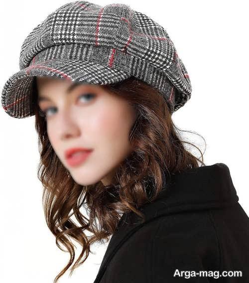 کلاه دخترانه طرح دار