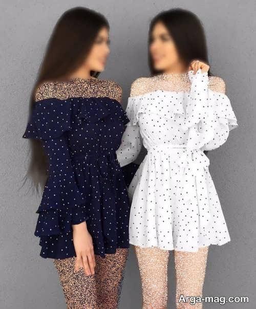 لباس طرحدار بدون سرشانه