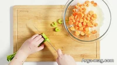 مواد لازم برای طبخ سوپ ریبولیتا