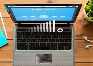 افزایش صدای لپ تاپ
