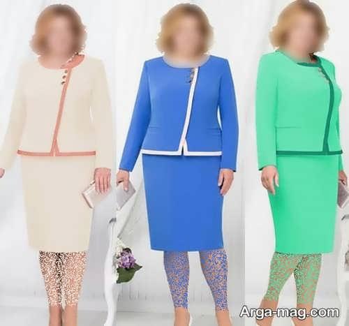 کت دامن زیبا برای خانم های چاق