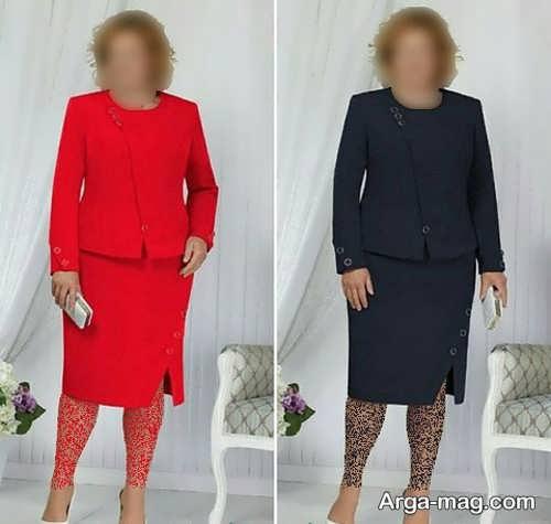 کت دامن زیبا و خاص برای افراد سایز بزرگ