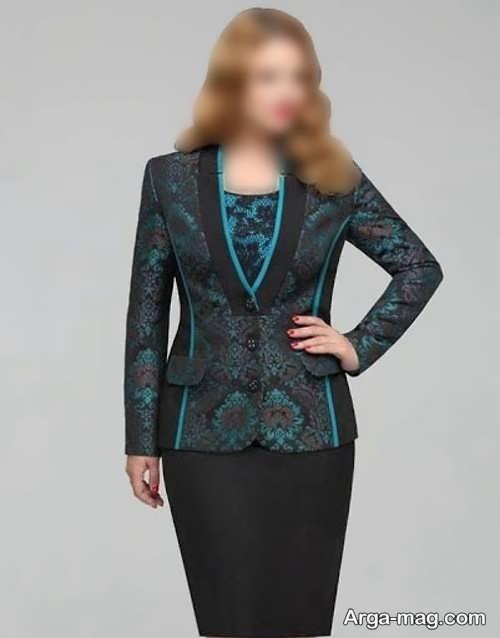 کت دامن برای خانم ها با فرم اندام چاق