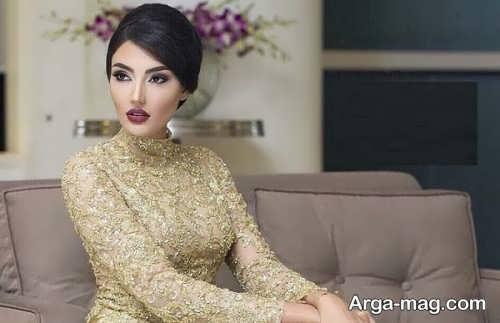 میکاپ برای افراد با لباس طلایی