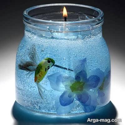 مدل شمع ژله ای حباب دار