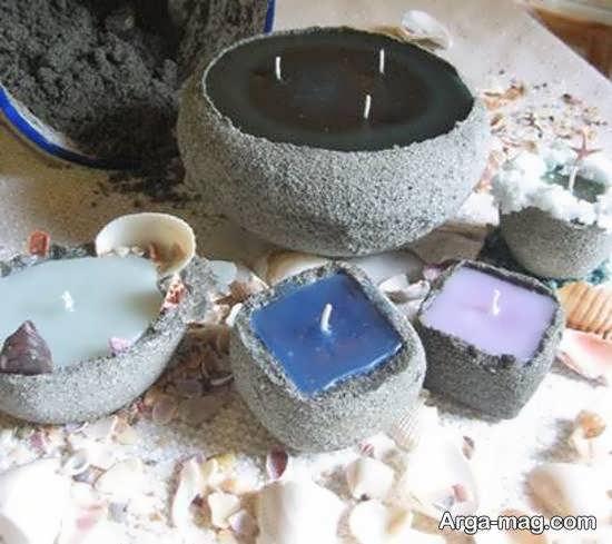 آموزش ساختن شمع شنی با پارافین