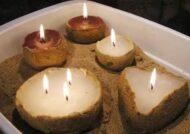 آموزش ساخت شمع شنی با روشی زیبا و جذاب