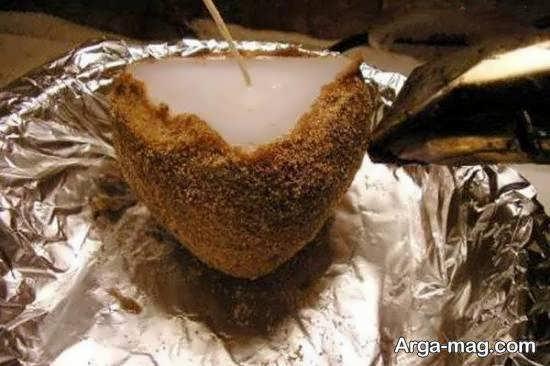 آموزش ساخت شمع شنی با روشی نو