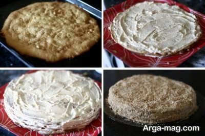 مراحل تهیه کیک مدوویک